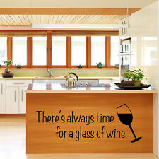 Cut Cookhouse Wine Wall Sticker Poetry Decal Vinyl Removable Decor Quote Mural