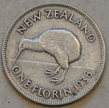 New Zealand 1936 Florin Mid Grade As Pictured