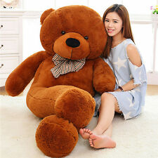 100cm Deep Brown Large Teddy Bear Giant Big Huge Plush Stuffed ValentineToy Gift