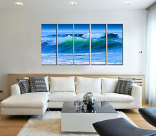Wave seascape print on canvas, sea canvas art prints, beach wave canvas prints