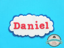 Thomas the tank engine plaque edible sugar decoration cake topper cupcake name