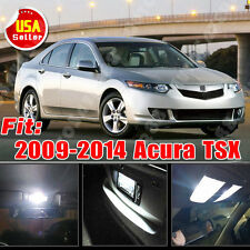 19X Super White LED Light Blubs Interior Package Kit for 2009-2014 Acura TSX 12V