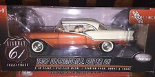1/18 HIGHWAY 61 1957 OLDSMOBILE SUPER 88 ROCKET AMERICAN MUSCLE RARE COLOR COMBO
