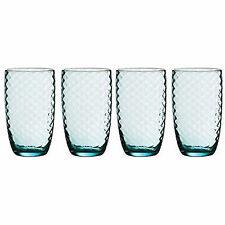 Set Of 4 Artic Blue Hi Ball Tumbler Drinking Glasses Wine Water Glass Drink Gift