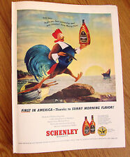 1947 Schenley Whiskey Ad Rooster 1947 Camel Cigarette Ad June Arnold Ice Skater
