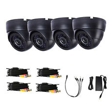 4PCS 1300TVL Security IR-CUT Camera 60ft Video Power Cable for Security System