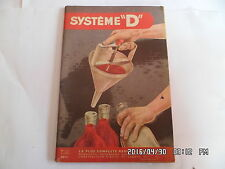 SYSTEME D N°122 02/1956 ENTONNOIR REMORQUE DE CAMPING BANC POUR ENFANT   J30