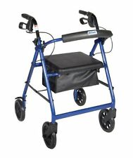Drive Medical Rollator Walker Adult Senior with 4 Wheel 7.5'' Casters Blue NEW!