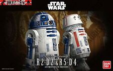 R2-D2 & R5-D4 astromech droïdes star wars 1/12 scale model figure kit bandai
