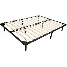 79'' 8 Leg Queen Size Wood Slat Metal Platform Bed Frame Sleeping Metal Mattress