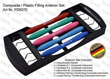 Anterior Set + Autoclavable Cassette, Non-Stick TiN Dental Composite Instrument