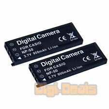 BATTERY x 2 for CASIO NP-50 Exilim EX-V7 EX-V8 V7SR V8SR Camera TWO BATTERIES
