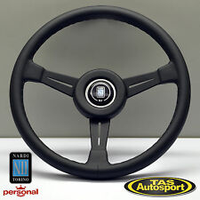 GENUINE Nardi Steering Wheel ND CLASSIC Black Leather Black Spokes 6051.36.2901