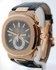 Patek Philippe Nautilus Chronograph 18k Rose Gold Box/Papers BRAND NEW 5980R