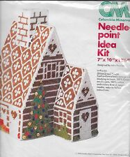 Columbia Minerva Needlepoint Idea Kit 8275 Gingerbread House John Peaslee New