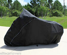 "SUPER HEAVY-DUTY MOTORCYCLE COVER FITS TOURING BIKES with windshield up to 108""L"