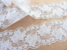 Lace Trim WHITE 4 in. wide 3 yds, Wedding Lace, Table Runners, Sewing Lace