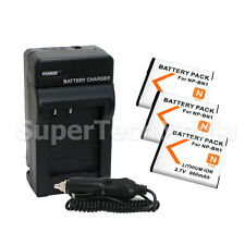 3 Battery + Charger For Sony NP-BN1 DSC-W530 W570 WX9 TX5 WX150 WX80 WX70 WX50