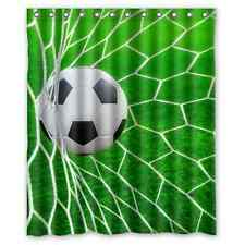 New Arrival Soccer Goal Net Football Printed Fabric Shower Curtain 60x72 Inch