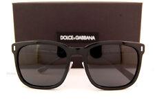Brand New Dolce & Gabbana Sunglasses DG 4271 501/87 Black/Grey For Men