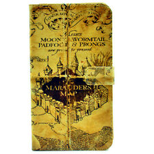 Harry Potter Retro The Marauder's Map Leather Wallet Card Case Stand For LG G4