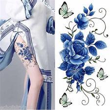 Waterproof Temporary Tattoo Sticker Flower Butterfly DIY Body Art Decal K022