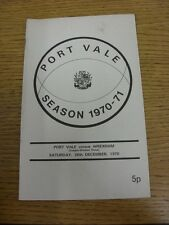 26/12/1970 Port Vale v Wrexham  (Light Crease, Faint Mark). Thanks for taking th