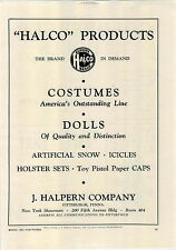 1942 PAPER AD Halco Costumes Dolls Cap Guns Goldberger Cuddly Baby Doll