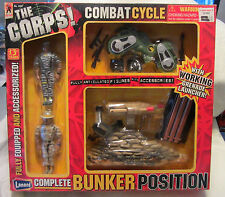 THE CORPS 2-Man BUNKER POSITION w/Grenade Launcher & Combat Cycle Lanard NEW