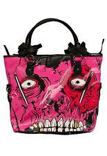 Iron Fist Pink/Black Gold Digger Handbag (Goth,Skull,Zombie)