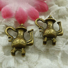 free ship 30 pieces bronze plated teapot charms 18x16mm #3882