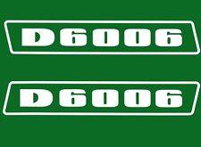 Deutz D6006 Aufkleber Logo Emblem Sticker Label weiss .