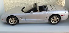 1998 Chevrolet Corvette Convertible 1:18 UT Models Silver new in box w/ bands
