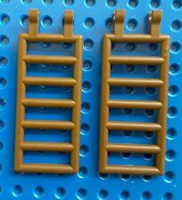 LEGO 6020 LADDER 7 X 3 WITH DOUBLE CLIPS BROWN X 2