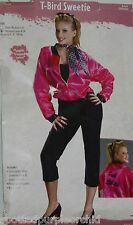 New Women Thunder Bird Sweetie Pink Ladies Carhop Theatre Halloween Costume~M/L
