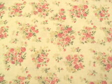 Cottage Shabby Chic Mary Rose Floral Fabric 2140Y-14A, Rose Bouquets BTY