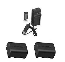 2 Batteries + Charger for JVC GZ-HM440US GZ-HM445 GZ-HM446 GZ-HM450 GZ-HM450AUS
