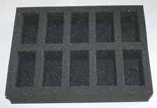 10 Compartment Foam Tray Case Insert for Games Workshop Wargames Models GW Case
