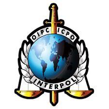 3x4 inch OIPC ICPO Interpol Seal Sticker - decal criminal police oipcicpo logo