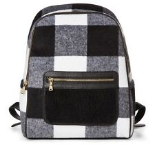 Adam Lippes for Target Shearling Backpack Handbag - Black & White Plaid NWT