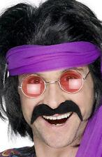 70er Jahre Schnurrbart schwarz NEU - Karneval Fasching Bart Verkleidung