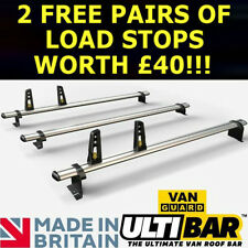Peugeot Partner June 08+  Van Guard 3 x ULTI Bars Aluminium Roof Rack - VG271-3