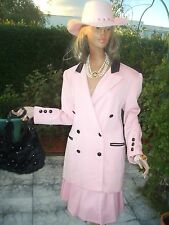 LUXUS Escada COUTURE Rock sehr edel skirt rosa pink 40/42 NP980Country Landhaus