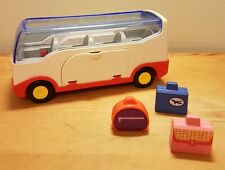 Playmobil 1.2.3. - 6773 -  Airport Shuttle Bus Coach & 3 cases (b2)