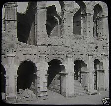 Glass Magic Lantern Slide SECTION OF THE COLOSSEUM ROME NO2 C1900 ROMA ITALY