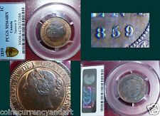 "1859 CANADA One Cent  PCGS MS64 ""REPUNCHED 9"""