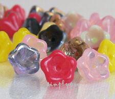 Assorted Colors Flower Bell Flower Czech Glass Beads 8mm 20