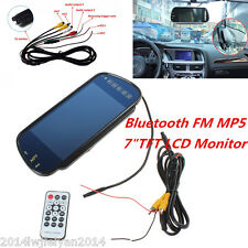 "7"" TFT LCD Color HD Dispaly USB SD Bluetooth MP5 FM Car Rear View Mirror Monitor"