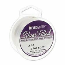 Silver Filled Wire Beadsmith Round 24 gauge .5oz 25ft  41899 Dead Soft