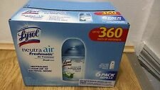 LYSOL GLADE FRESHMATIC NEUTRA AIR SPRAY REFILL 6 CANS AUTOMATIC 6.17